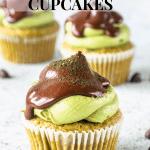 chocolate chip matcha cupcakes
