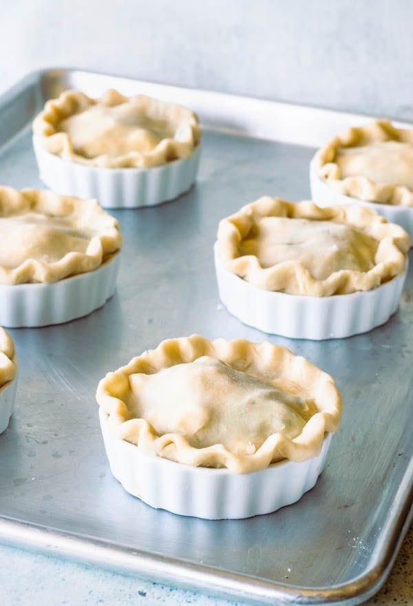 Veggie pot pies vegetarian pies pre bake