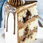 Marble Layer Cake slice