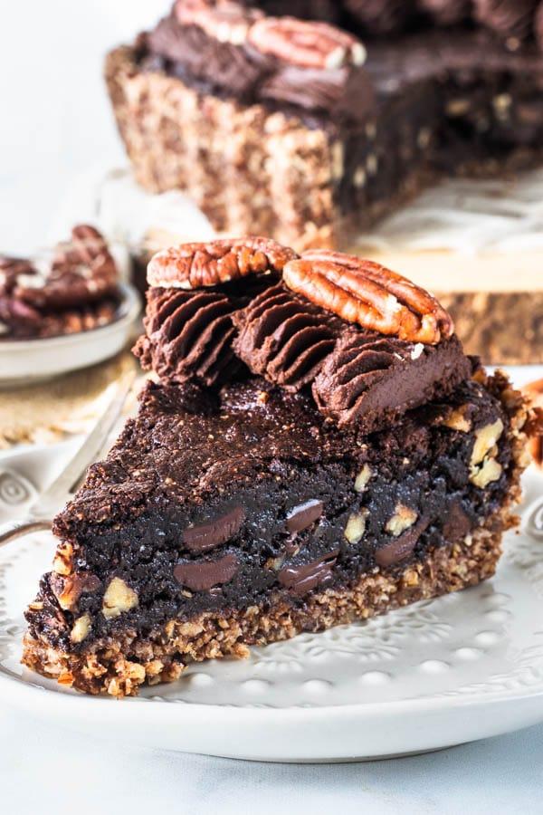 Brownie Pecan Vegan Pie