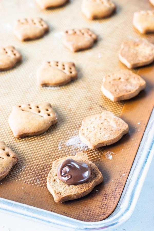 Nutella Gingerbread Cookies