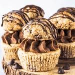 Vegan Chocolate Chip Cookie Cupcakes-3