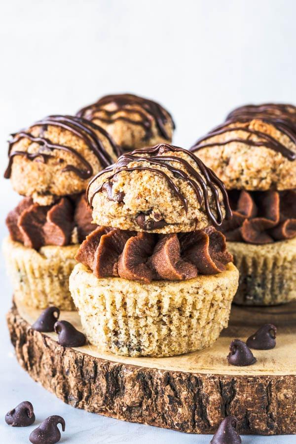 Chocolate Chip Cookie Vegan Cupcakes