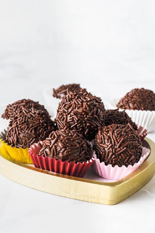 Vegan brigadeiro vegan truffles