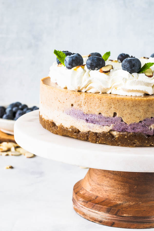 Almond Blueberry Vegan Cheesecake