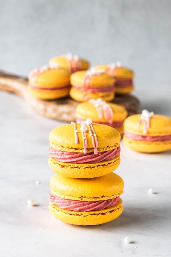 Strawberry Lemonade Macarons