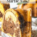 Chocolate Orange Marble Cake batter