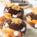 vegan s'mores donuts