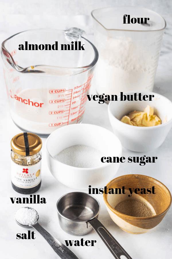 ingredients needed to make vegan donut dough