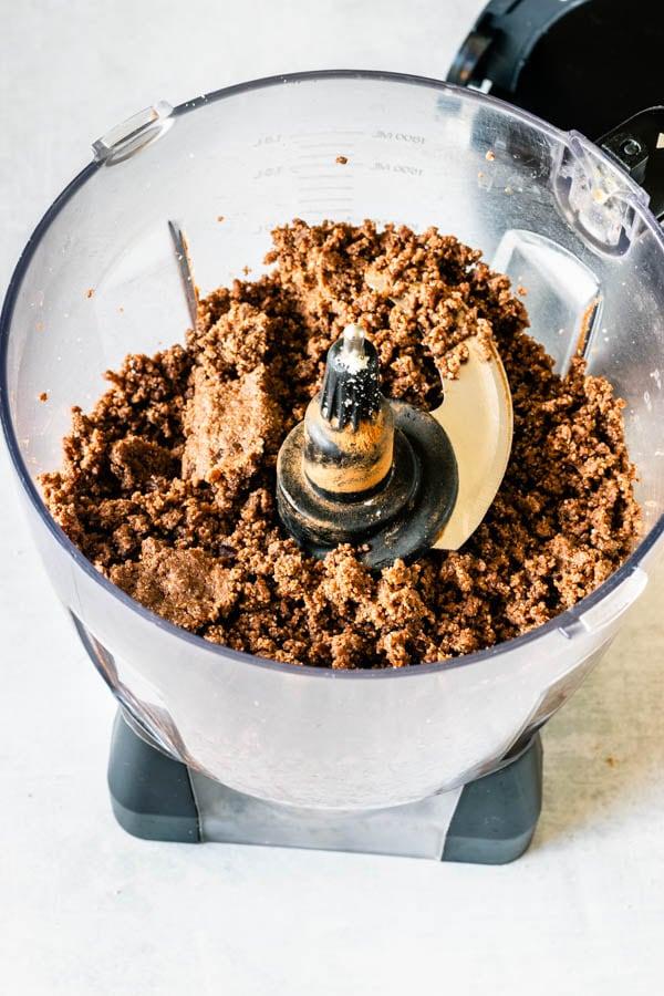 no bake cookie crust ingredients processed in a food processor