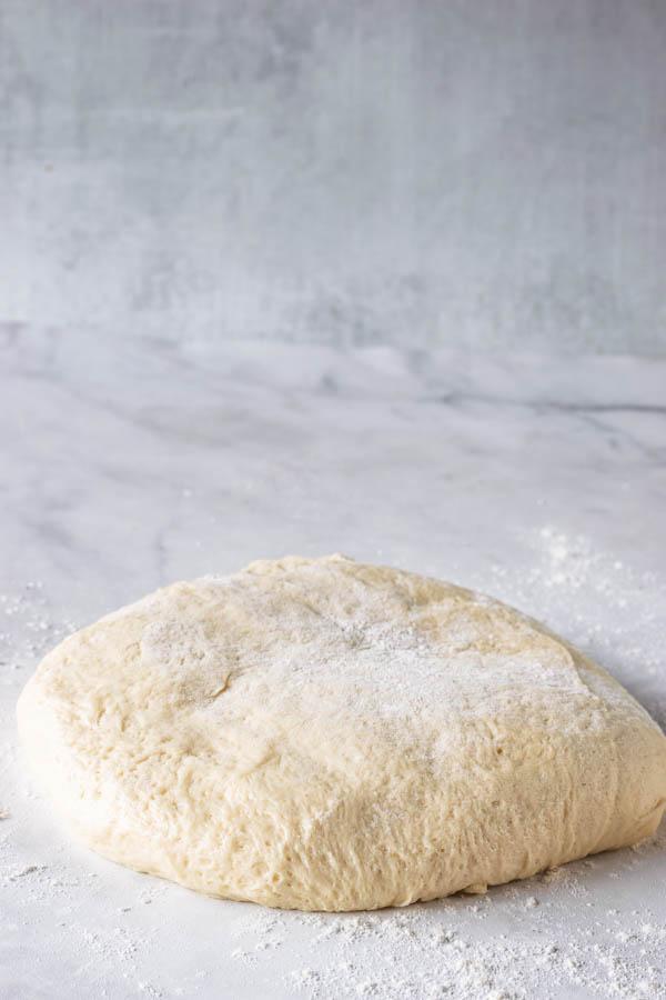 vegan donut dough on top of counter