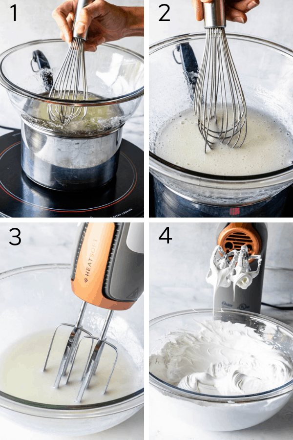 making marshmallow frosting