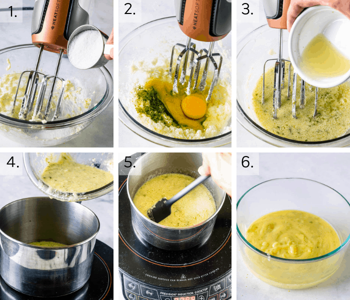 process of making lime curd