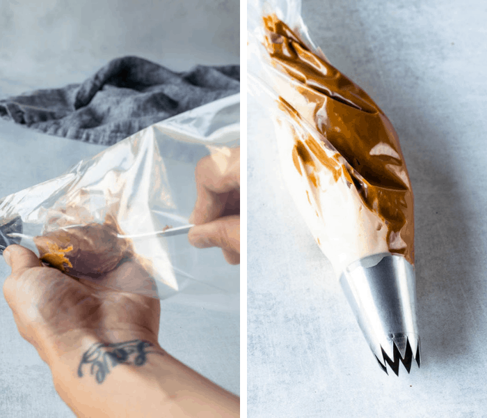 how to make swirl frosting with biscoff butter and buttercream