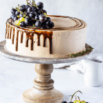 Grape cake with Balsamic Caramel Swiss Meringue Buttercream