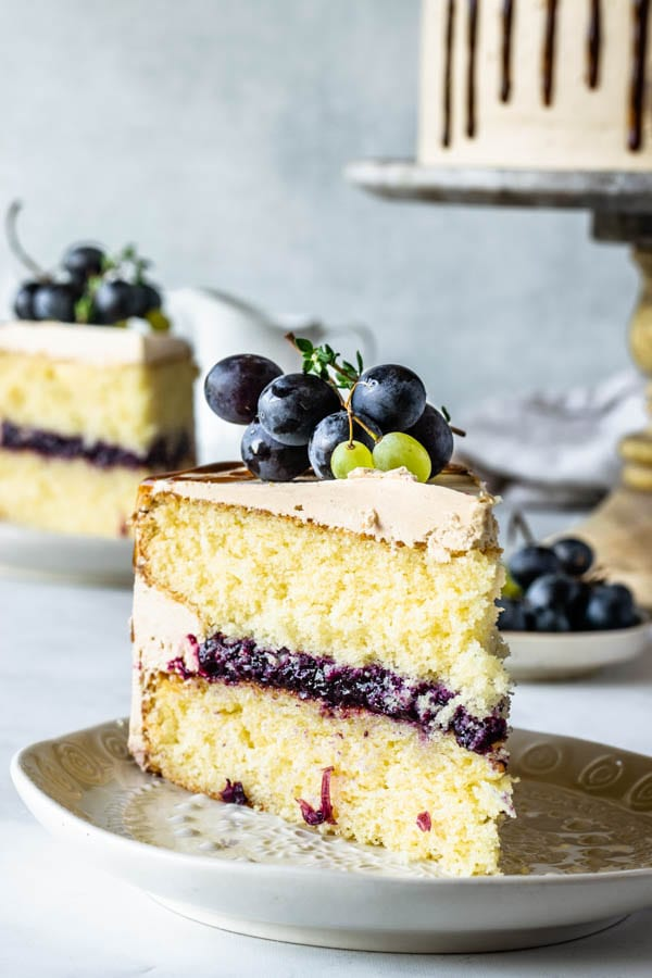 grape cake slice