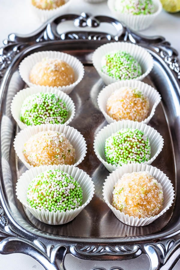 Key Lime Brigadeiros fudge truffles