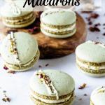 vegan pistachio macarons