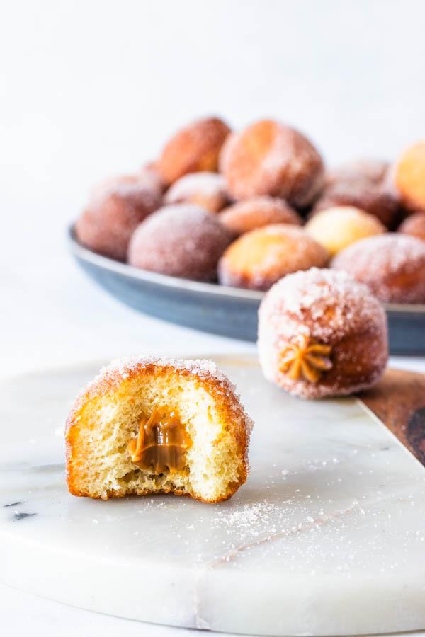dulce de leche filled donuts