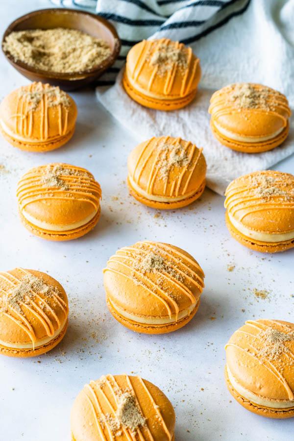 Pumpkin Cheesecake Macarons