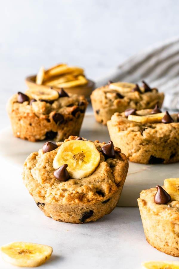 Vegan banana Cookies with chocolate chips