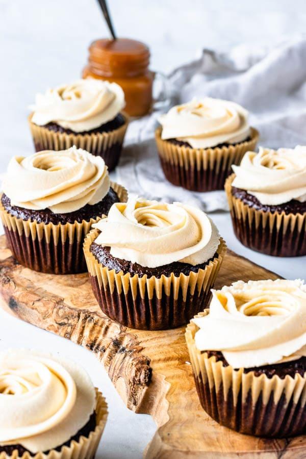 Vegan Caramel Cupcakes