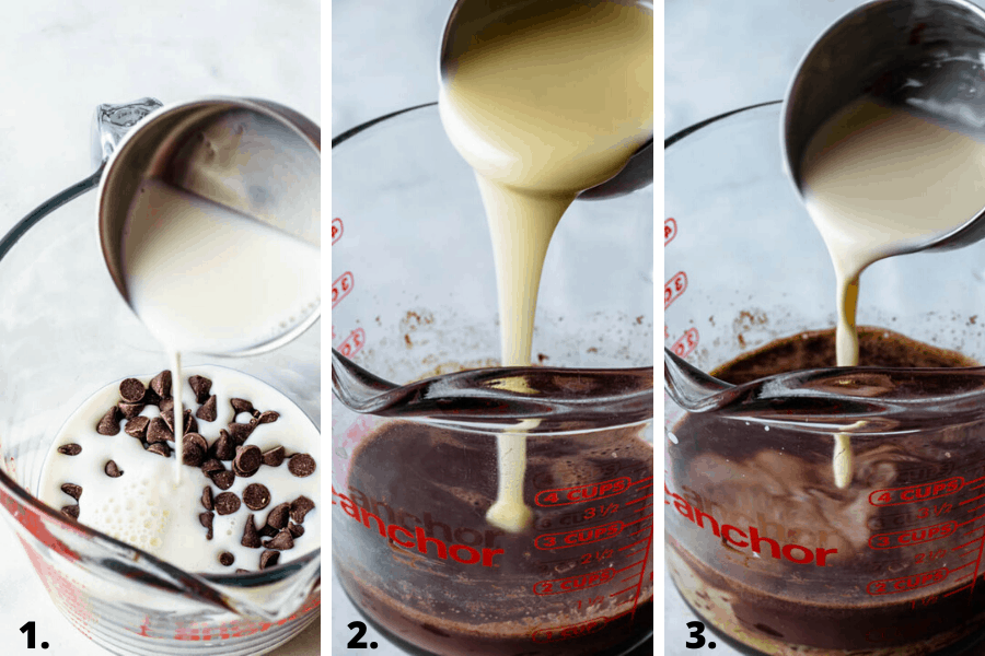 how to make the milk mixture to pour on chocolate tres leches cake