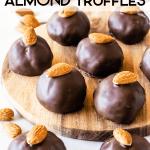 Vegan Almond Tahini Truffles