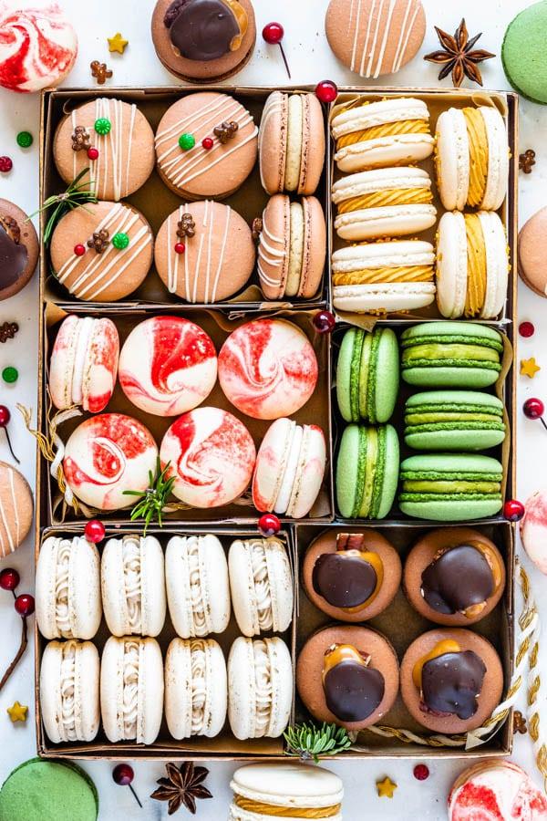 Christmas Macarons cookie box