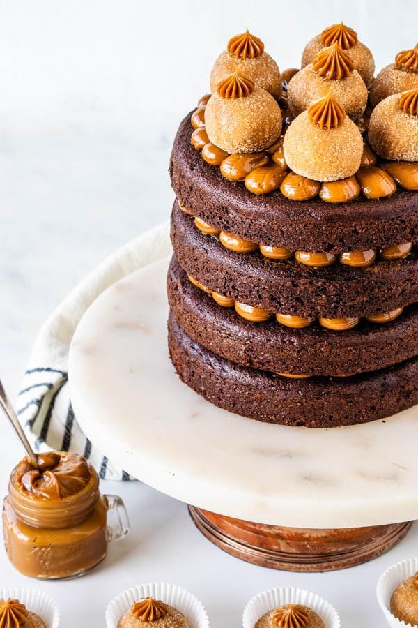 Dulce de Leche Chocolate naked Cake