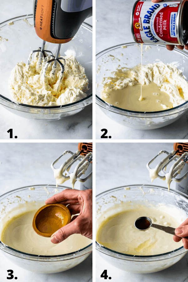 steps on how to make no-bake cheesecake