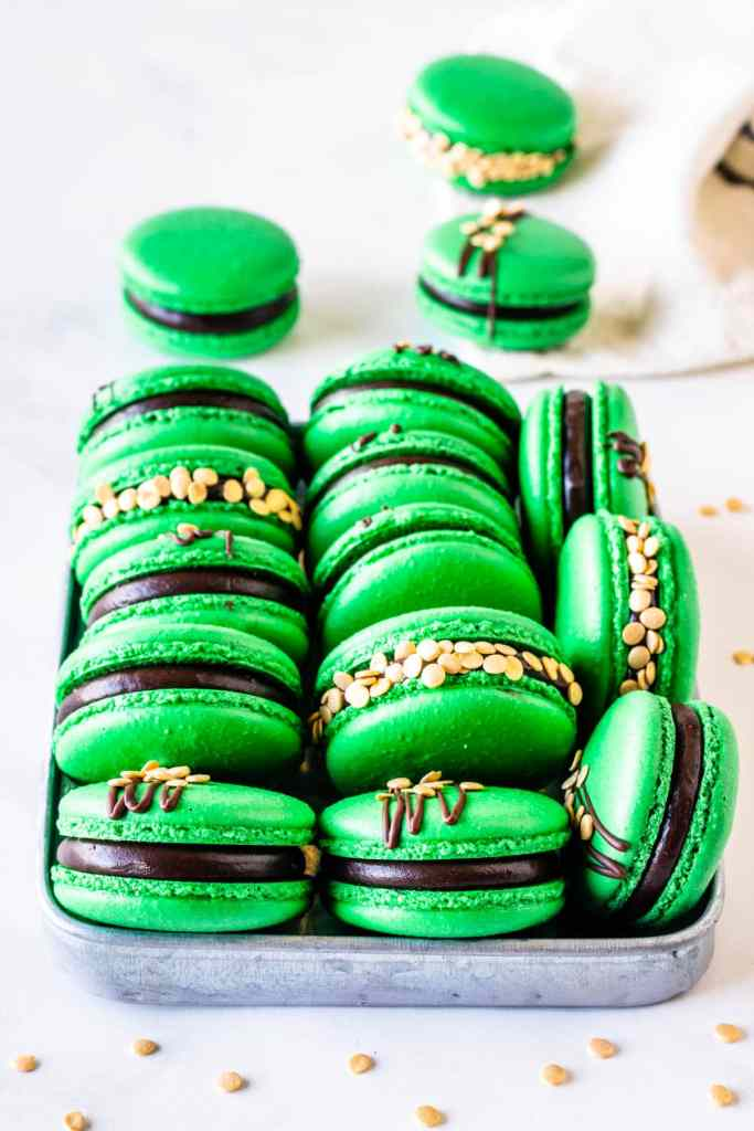 St. Patrick's Macarons with Guinness Ganache