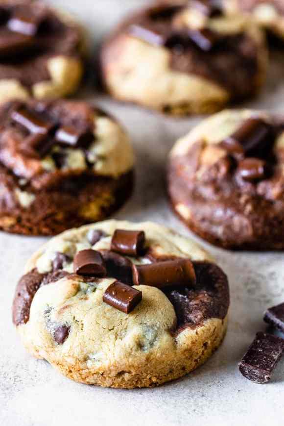 Brookies Recipe brownies and cookies baked in one treat