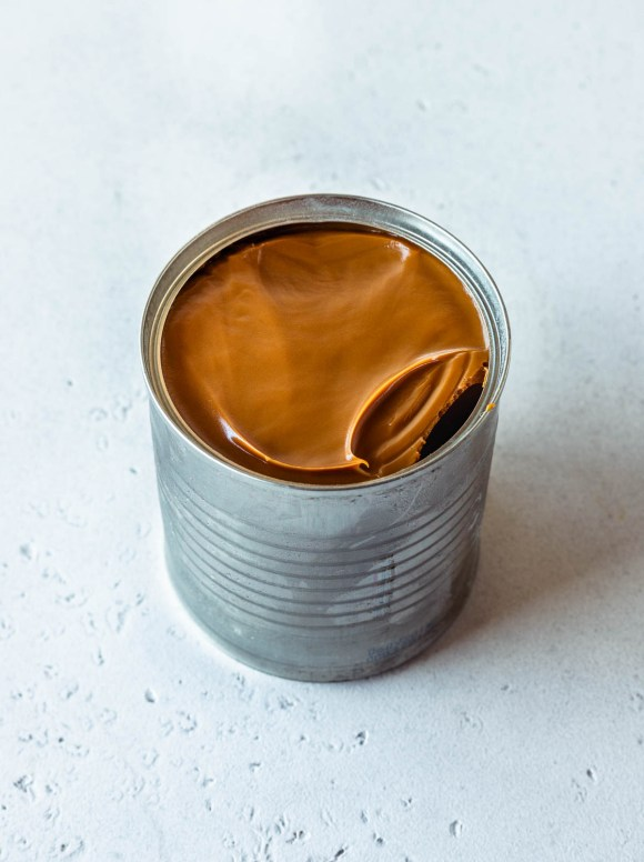 condensed milk can with instant pot dulce de leche inside.