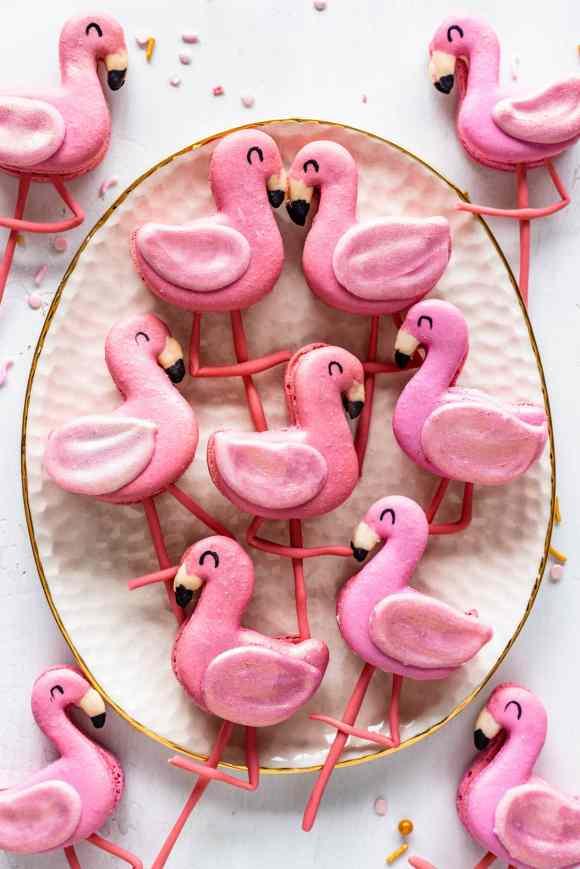 Flamingo Macarons