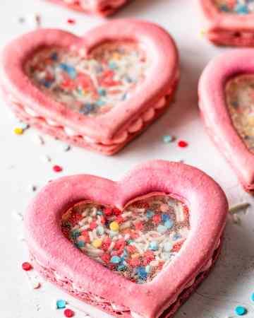Heart Shaker Macarons