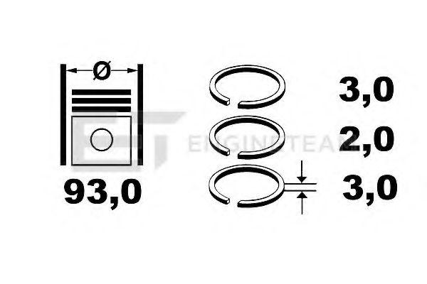 Set segmenti piston ET ENGINETEAM R1001300 :: piese masina