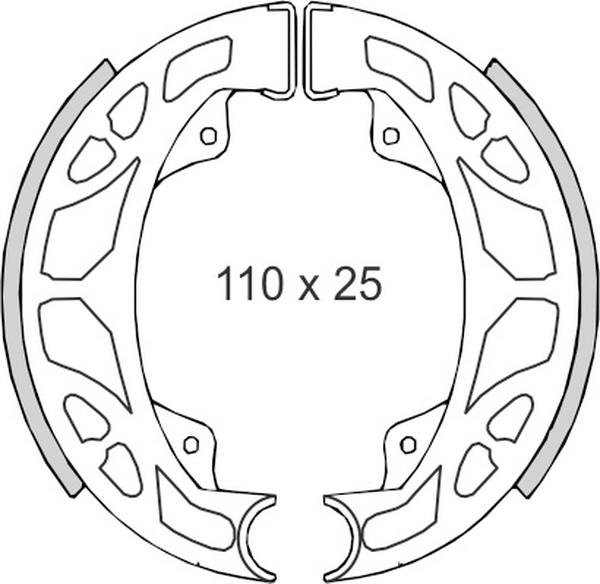Set saboti frana (ferodo) FT01284