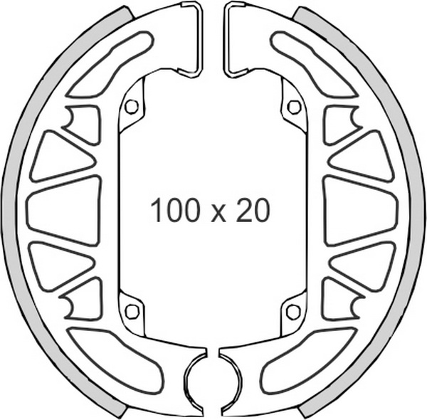 Set saboti frana (ferodo) FT0266