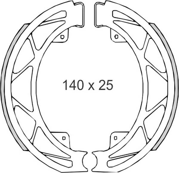 Set saboti frana (ferodo) FT0303