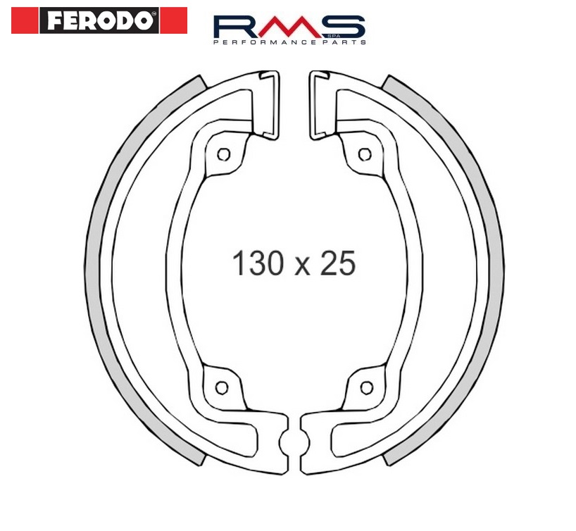 Set saboti frana (ferodo) Ferodo FSB762 Honda CN 250