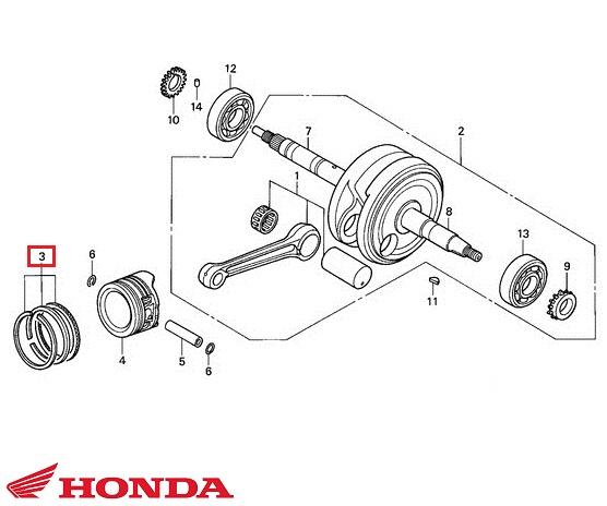 Set segmenti originali Honda ANF Innova 4T 125cc D52.40