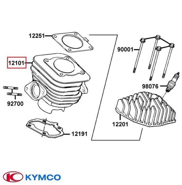 Cilindru original Kymco Cobra