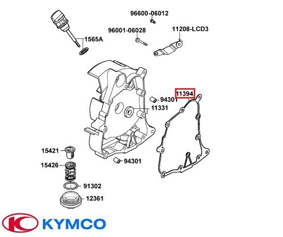 Garnitura carter dreapta (magnetou) originala Kymco