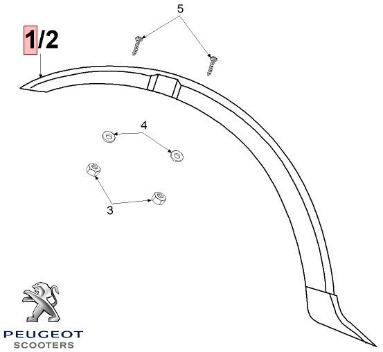 Aripa roata fata neagra originala moped Peugeot 103 MVL E