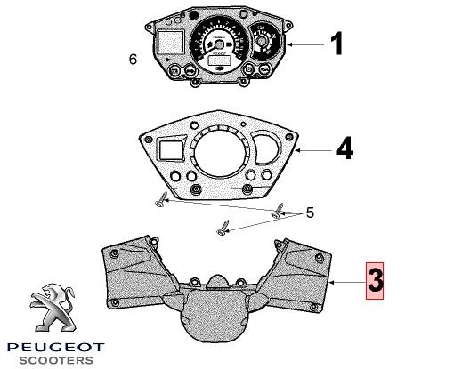 Carena inferioara bord (ghidon) originala Peugeot Jet