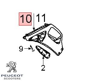 Carena laterala fata stanga originala Peugeot Speedfight