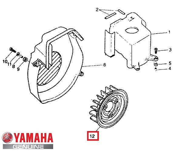 Paleta racire motor (magnetou) originala Aprilia Rally