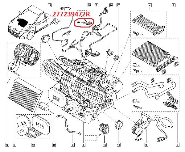 Sonda evaporator clima Renault Scenic 3 , 2009-> . Cod