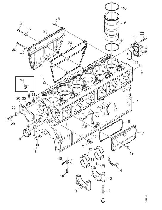Kit reparatie caseta directie Scania 3,4